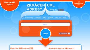Webová aplikace Zkracovač URL adres XOE