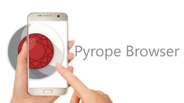 Článek blogu Prohlížeč Pyrope pro Android