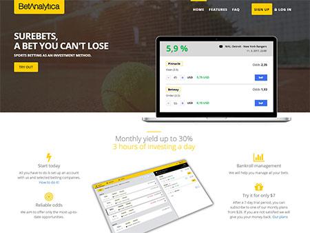 Náhled webu betanalytica.com - obrázek 1