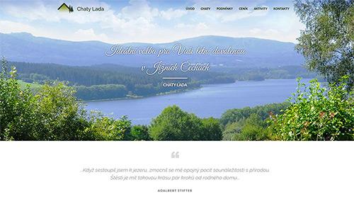 Obrázek reference Webové stránky Chaty Lada