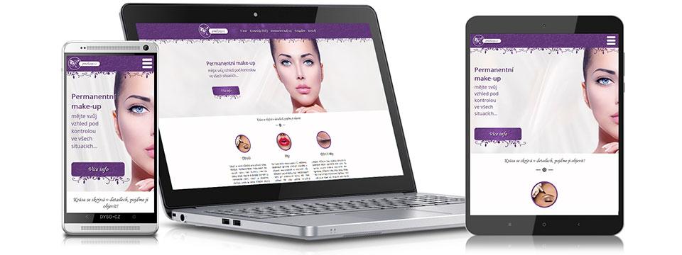 Pmakeup.cz - webové stránky kosmetického salonu