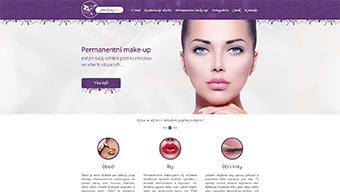 PMakeup.cz webové stránky kosmetického salonu