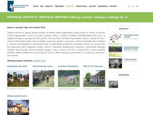 Náhled webu Ekologie a etologie - obrázek #2