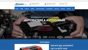 Webové stránky firmy Rindt a. s.