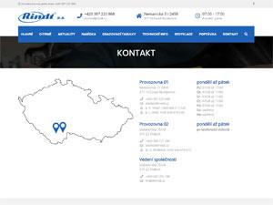 Náhled webu rindt.cz - obrázek #3