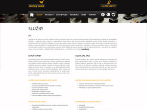Náhled webu SSound.cz - obrázek #2